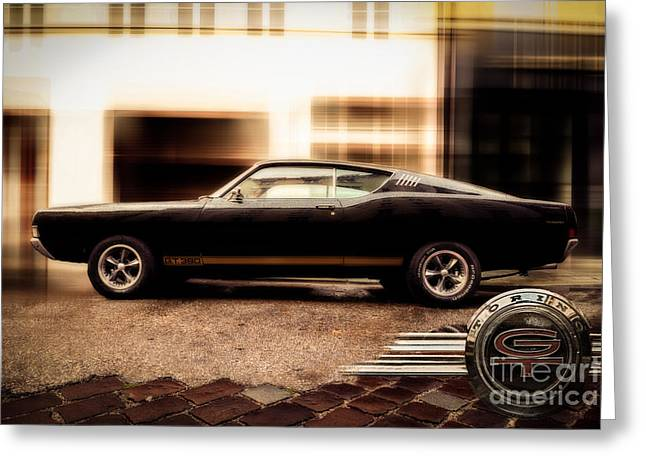 Hannes Cmarits Greeting Cards - Ford Torino G.T.390 Greeting Card by Hannes Cmarits