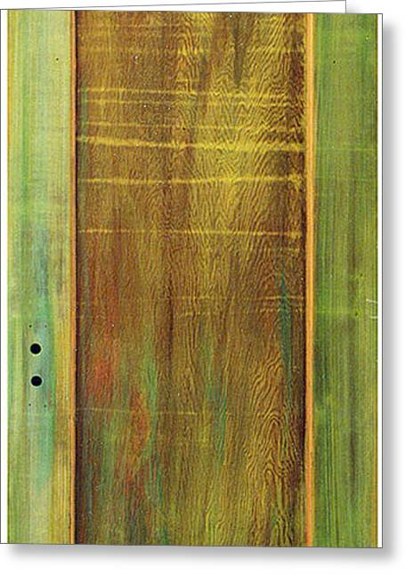 Apple Art Sculptures Greeting Cards - Forest Painted Door Greeting Card by Asha Carolyn Young