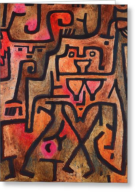 Black Mass Greeting Cards - Forest Witches  Greeting Card by Paul Klee
