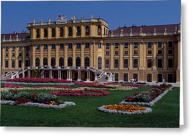 Garden Scene Greeting Cards - Formal Garden In Front Of A Palace Greeting Card by Panoramic Images