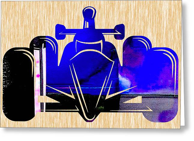 Racing Greeting Cards - Formula One Race Car Greeting Card by Marvin Blaine