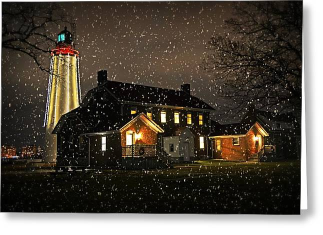 Cheryl Cencich Greeting Cards - Fort Gratiot Lighthouse Greeting Card by Cheryl Cencich