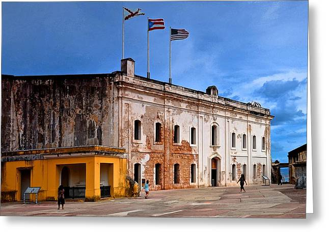 Paseo La Princesa De San Juan Greeting Cards - Fort San Cristobal 3 Greeting Card by Ricardo J Ruiz de Porras