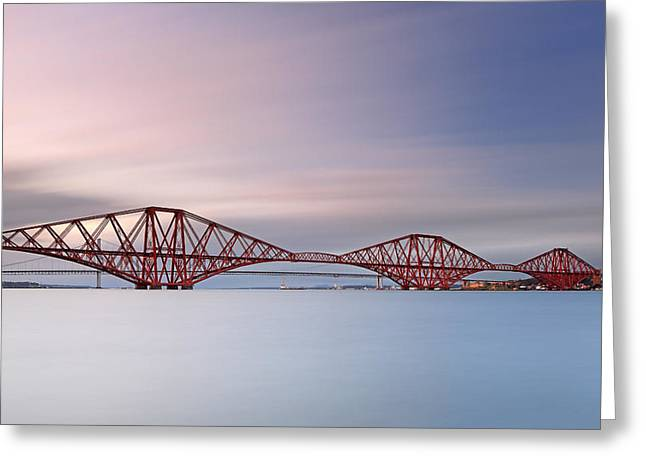 Bridge Framed Prints Greeting Cards - Forth Railway Bridge Greeting Card by Grant Glendinning