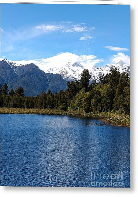 Fox Glacier Nz Greeting Card by Fran Woods