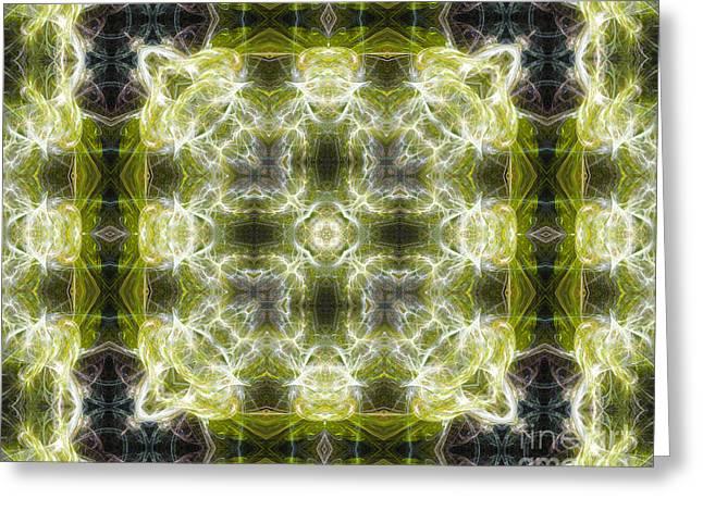 2d Greeting Cards - Fractal Acid Greeting Card by Roseann Caputo