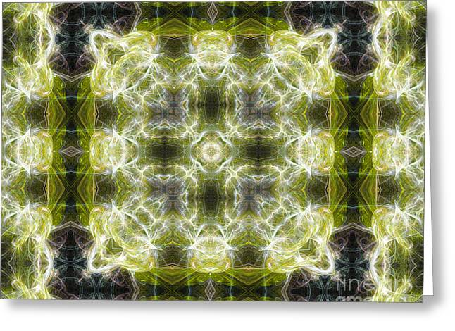Roseann Caputo Greeting Cards - Fractal Acid Greeting Card by Roseann Caputo