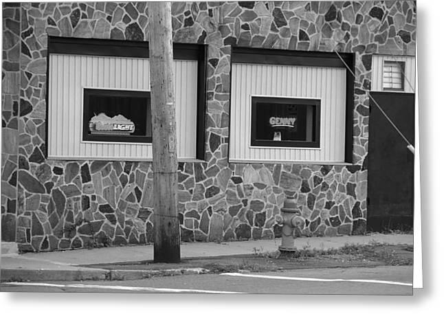 7up Sign Greeting Cards - Frankies Tavern - Binghampton New York Greeting Card by Frank Romeo
