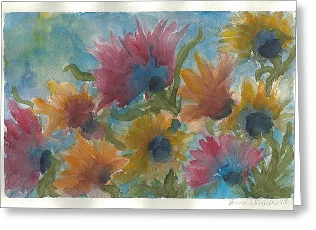 Free Spirits Greeting Card by Anne Olivier