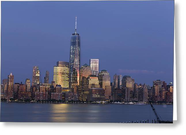 Brooklyn Promenade Greeting Cards - Freedom Tower  Greeting Card by D Plinth