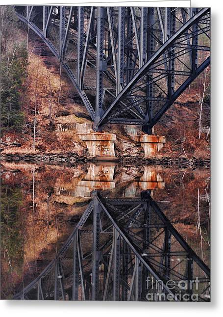 Massachusetts Bridges Greeting Cards - French King Bridge Greeting Card by HD Connelly