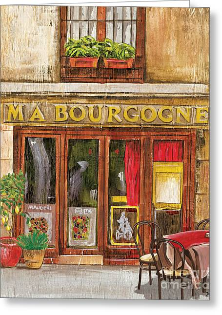 Garden Chairs Greeting Cards - French Storefront 1 Greeting Card by Debbie DeWitt