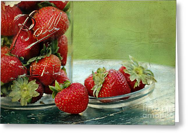 Harvest Art Greeting Cards - Fresh Berries Greeting Card by Darren Fisher