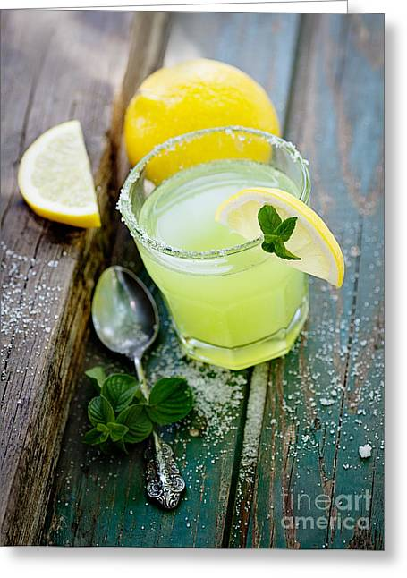 Sour Greeting Cards - Fresh lemonade Greeting Card by Mythja  Photography