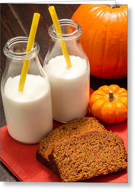 Loaf Of Bread Greeting Cards - Fresh Pumpkin Bread Greeting Card by Teri Virbickis