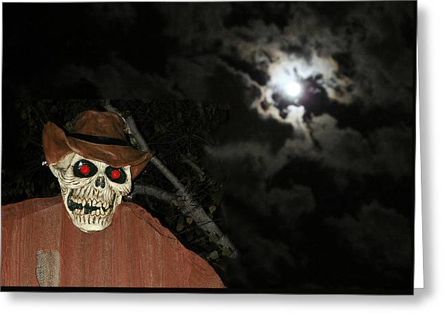 Fright Night Greeting Cards - Fright Night 1 Greeting Card by Ellen Henneke