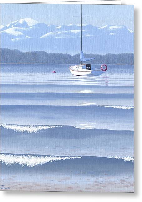 Vancouver Island Greeting Cards - From the beach Greeting Card by Gary Giacomelli