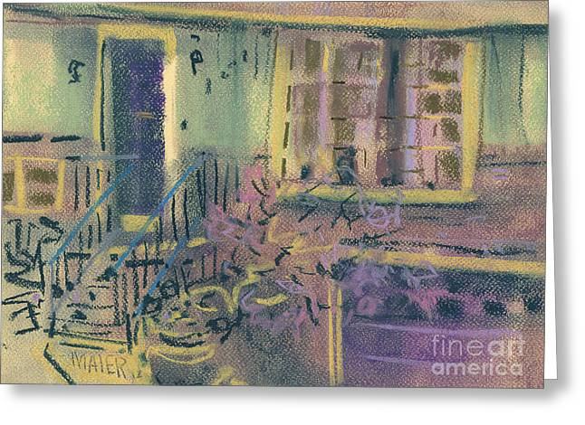 Homes Pastels Greeting Cards - Front Door Greeting Card by Donald Maier