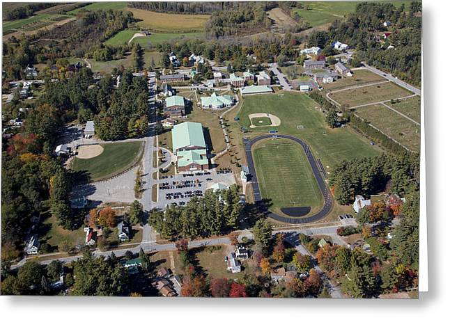 Maine Landscape Greeting Cards - Fryeburg Academy, Maine Me Greeting Card by Dave Cleaveland