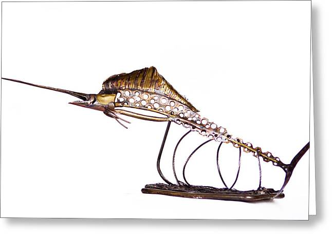 Sea Life Sculptures Greeting Cards - Full Sail Greeting Card by Bill Warr
