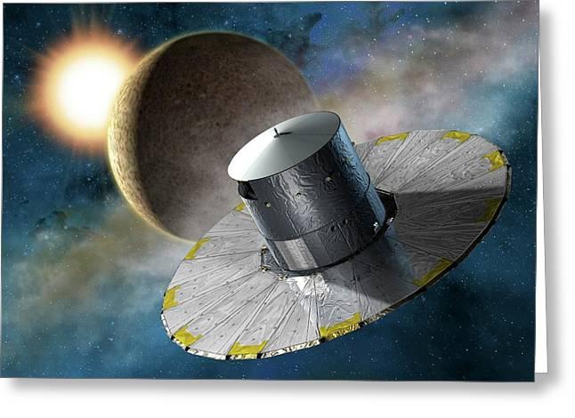 Gaia Space Probe Greeting Card by D Ducros/european Space Agency