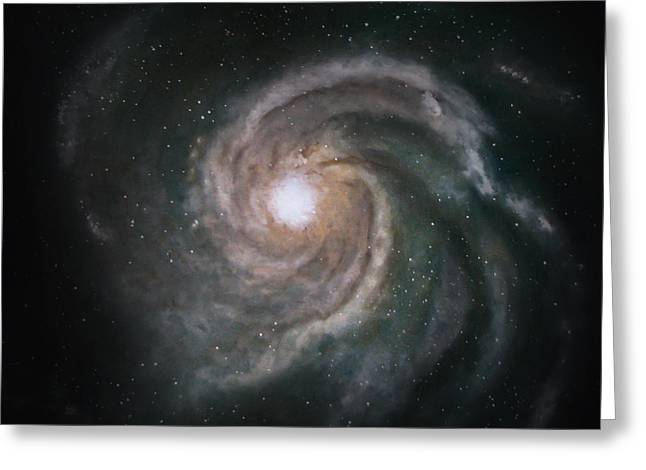 Outer Space Paintings Greeting Cards - Galaxy Greeting Card by Julie Neuman