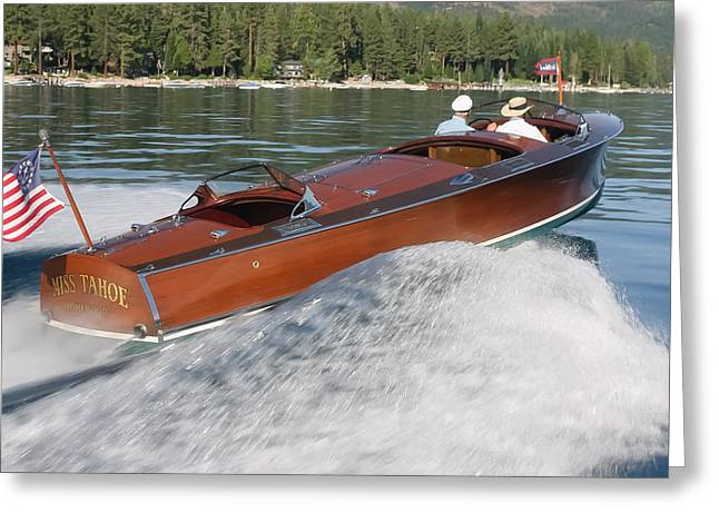 Mahogany Greeting Cards - Gar Wood Runabout Greeting Card by Steven Lapkin