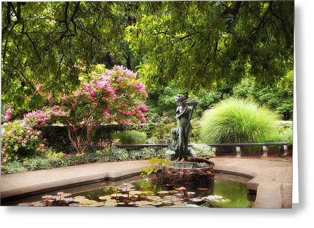 Conservatory Garden Greeting Cards - Garden Grace Greeting Card by Jessica Jenney