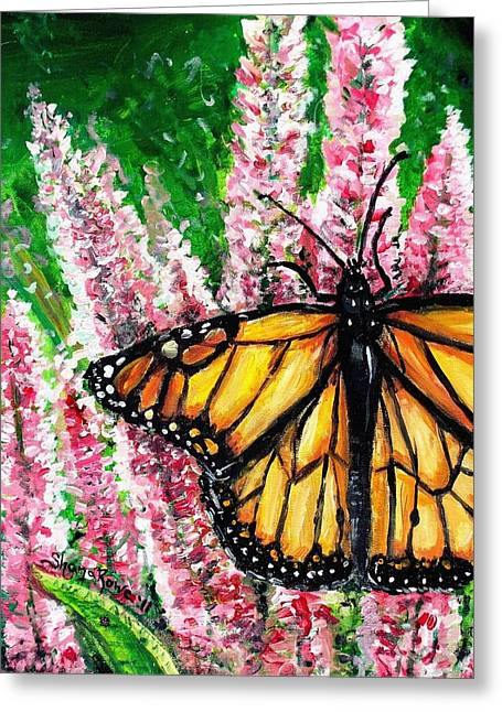 Antenna Paintings Greeting Cards - Garden Life Greeting Card by Shana Rowe
