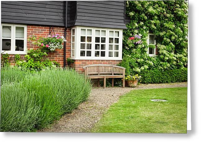 Garden Scene Photographs Greeting Cards - Garden path Greeting Card by Tom Gowanlock