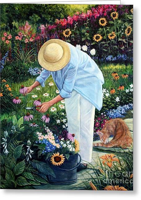 Gardener's Eden Greeting Card by Joey Nash
