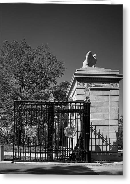 Arlington Greeting Cards - Gate to Arlington Cemetery Greeting Card by Mountain Dreams