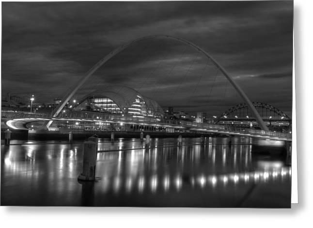 New Britain Greeting Cards - Gateshead Millennium Bridge Greeting Card by Mountain Dreams