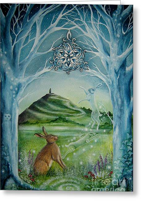 Tor Paintings Greeting Cards - Gateway Greeting Card by Lisa OMalley