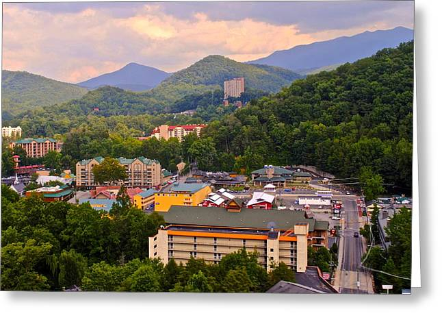 Incline Greeting Cards - Gatlinburg Tennessee Greeting Card by Frozen in Time Fine Art Photography