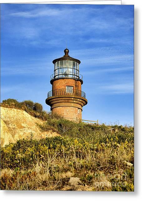 Wampanoag Greeting Cards - Gay Head Lighthouse Greeting Card by John Greim