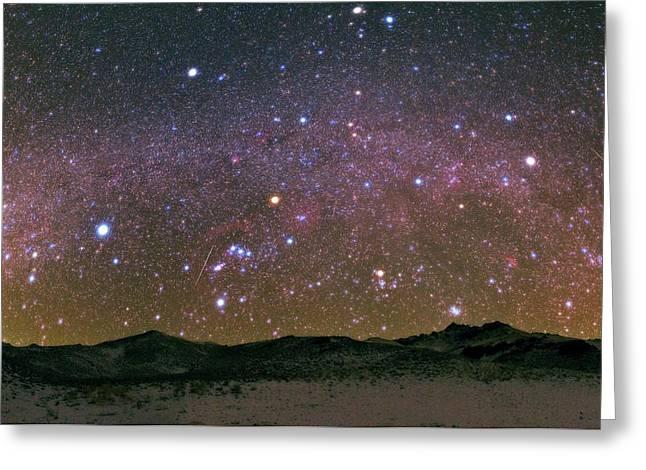 Geminid Meteor Shower Greeting Card by Babak Tafreshi