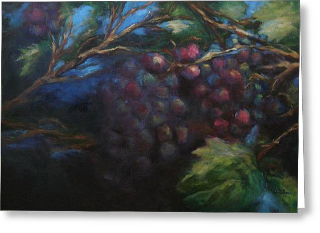 Red Wine Prints Greeting Cards - Gems Greeting Card by Valerie Greene