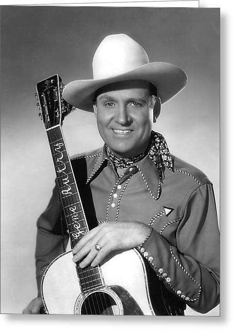 Genes Greeting Cards - Gene Autry Greeting Card by Silver Screen