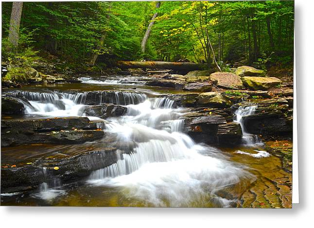 Forceful Greeting Cards - Gentle Falls Greeting Card by Frozen in Time Fine Art Photography