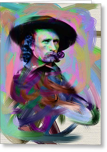 Last Stand Greeting Cards - George Armstrong Custer Greeting Card by Unknown