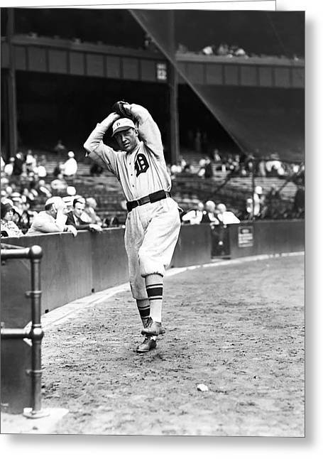 Baseball Game Greeting Cards - George E. Uhle Greeting Card by Retro Images Archive