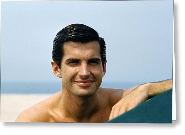 Hunk Greeting Cards - George Hamilton Greeting Card by Silver Screen