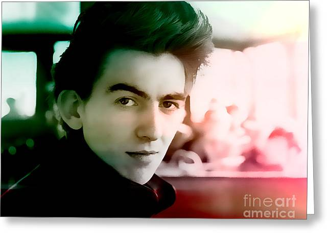George Harrison Images Greeting Cards - George Harrison Greeting Card by Marvin Blaine