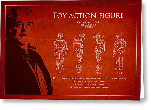 Figure Drawing Digital Art Greeting Cards - George Lucas Patent 1979 Greeting Card by Aged Pixel