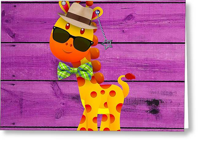 Giraffes Greeting Cards - Georgie Giraffe Collection Greeting Card by Marvin Blaine