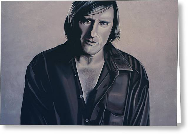 Iron Greeting Cards - Gerard Depardieu Greeting Card by Paul  Meijering