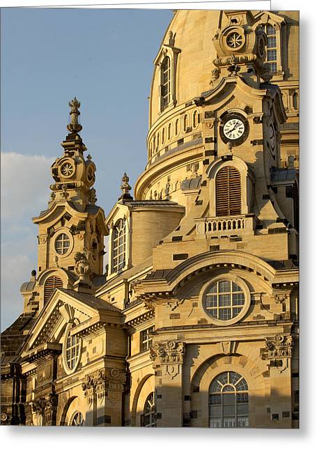 Germany, Saxony, Dresden, Frauenkirche Greeting Card by Tips Images