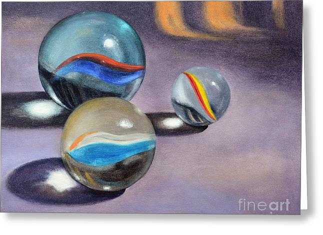 Marble Eye Paintings Greeting Cards - Get In The Game Greeting Card by Vickie Sue Cheek