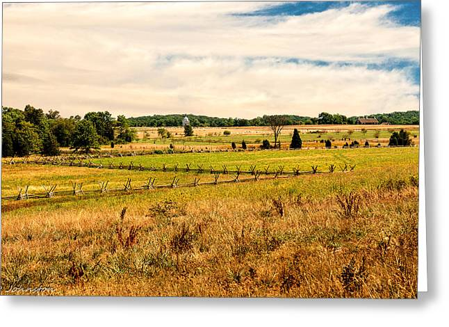 Confederate Monument Greeting Cards - Gettysburg Battleground Greeting Card by  Bob and Nadine Johnston
